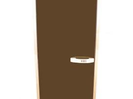 Stiklinės durys pirtims su lapuočio stakta Akcja - nuotraukos Nr. 2