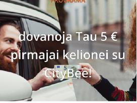 Citybee 5€ nuolaidos kuponas Lh08t