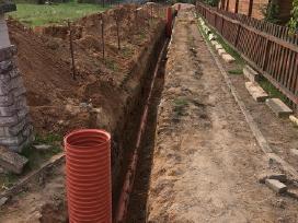 Vandentiekio ir kanalizacijos įrengimas.
