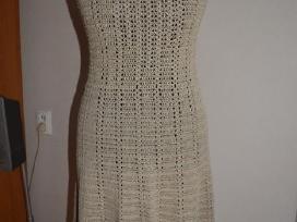 Rankų darbo lino suknelė