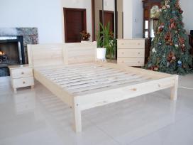 Natūralaus medžio masyvo lova Kretinga 120x200