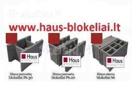 Haus Blokeliai pamatų / mūro Nemokamas Pristatymas