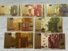 Suvenyriniai aukso spalvos euro banknotai