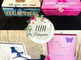 Krikštadėžės-prisiminimų dėžutės, krikšto žvakės
