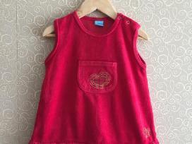 Raudona suknelė su širdele 86 dydis