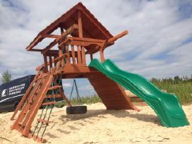 Lauko aikštelė Premium vaikams kedro mediena - nuotraukos Nr. 3