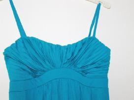 Puošni turkio spalvos suknelė - nuotraukos Nr. 2