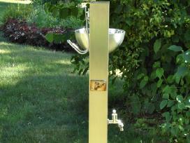 Nerūdijančio plieno vandens kolonėlė su kriaukle - nuotraukos Nr. 3