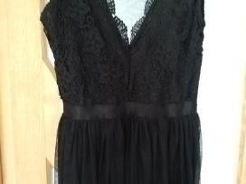 Proginė juoda-ilga Itališka suknelė