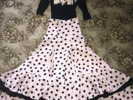 Flamenko šokių sijonas ir maikutė