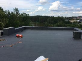 Plokščiu stogu dengimas, stogdengiai - nuotraukos Nr. 3
