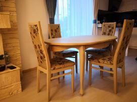 Klasikinio stiliaus ąžuoliniai, uosiniai stalai