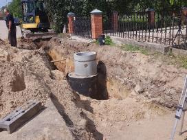 Mini ekskavatoriaus nuoma žemės kasimo darbai . - nuotraukos Nr. 4