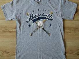 Pilki American Baseball marškinėliai paaugliams