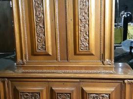 Medžio masyvo komoda (išlūžo durelės) - nuotraukos Nr. 3