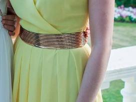Žavinga, puošni geltona suknelė - nuotraukos Nr. 3