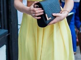 Žavinga, puošni geltona suknelė - nuotraukos Nr. 2