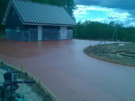 Pramoninių grindų betonavimas - nuotraukos Nr. 3