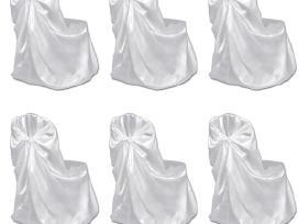 Vidaxl 6 Baltos Spalvos Užvalkalai Kėdėms 241184