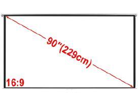 Vidaxl Projektoriaus Ekranas 200x113, 16:9 240716
