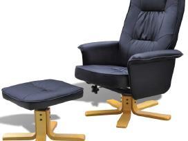 Vidaxl Fotelis su kėdute kojoms 241035