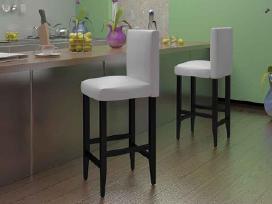 Vidaxl Baro kėdės, 2 vnt., dirbtinė oda 240073