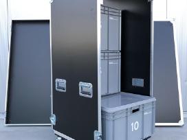 Flight case transportavimo dėžė ant ratukų