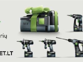 Festool įrankiai ir jų priedai. Nauji. Spec.kainos