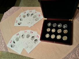 Sidabrinės Kanados dolerio kolekcinės monetos 2010
