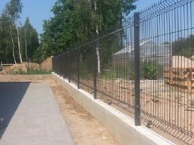 Segmentinė tvora, kiemo vartai, varteliai