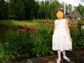 Šventinė suknelė mergaitei 128cm - nuotraukos Nr. 2