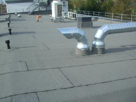 Ploksciu stogu dengimas prilydoma bitumine danga - nuotraukos Nr. 2