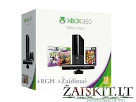 Xbox 360 pardavimas Atrištos konsolės su Garantija