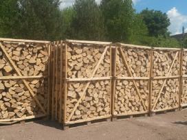 Parduodamos uosio sausos malkos konteineriuose