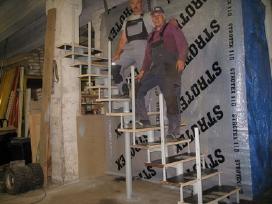 Metaliniai karkasiniai laiptai,metaloapdirbimai. - nuotraukos Nr. 4