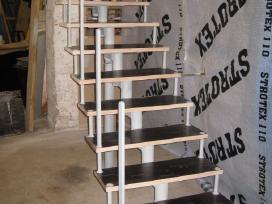 Metaliniai karkasiniai laiptai,metaloapdirbimai. - nuotraukos Nr. 3