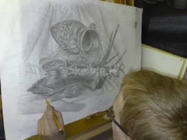 Piešimas, tapyba, kompozicija. nuotolinis ir. - nuotraukos Nr. 4