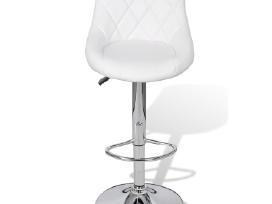 Vidaxl 2 Baltos Baro Kėdės 240466 - nuotraukos Nr. 3