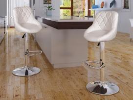 Vidaxl 2 Baltos Baro Kėdės 240466