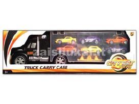 Žaislinis sunkvežimis – tralas su automobiliukais - nuotraukos Nr. 5