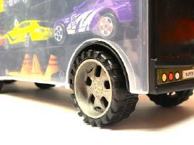 Žaislinis sunkvežimis – tralas su automobiliukais - nuotraukos Nr. 3