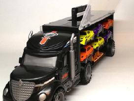 Žaislinis sunkvežimis – tralas su automobiliukais - nuotraukos Nr. 4