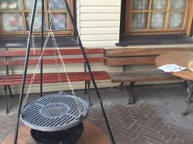 Špyžiniai (ketaus) indai, keptuvės, puodai griliai