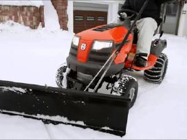 Sniego peiliai sodo traktoriams
