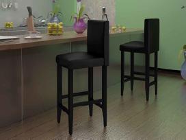 Vidaxl 2 Modernios Juodos Kėdės 240071