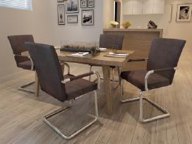 Vidaxl 4 Modernios Valgomojo Kėdės 270162