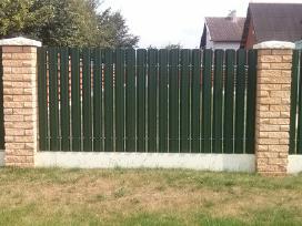 Metalinės skardinės tvoros tvoralentes lameles