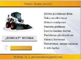 Bobcat, traktorius, sunkvezimis,priekaba-traliukas - nuotraukos Nr. 2
