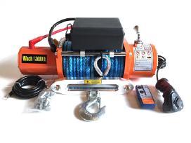 Elektrinė tempimo gervė sintetiniu lynu, 13000 lbs