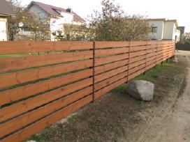 Tvoros segmentinės , medinės , metalinės , tinklas - nuotraukos Nr. 4